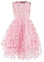 Oscar de la Renta Pink Dotted Tulle Dress