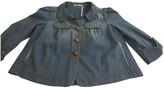 Maje Blue Denim - Jeans Leather jackets