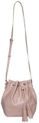 Mocha Tassel Leather Bucket Bag - Taupe