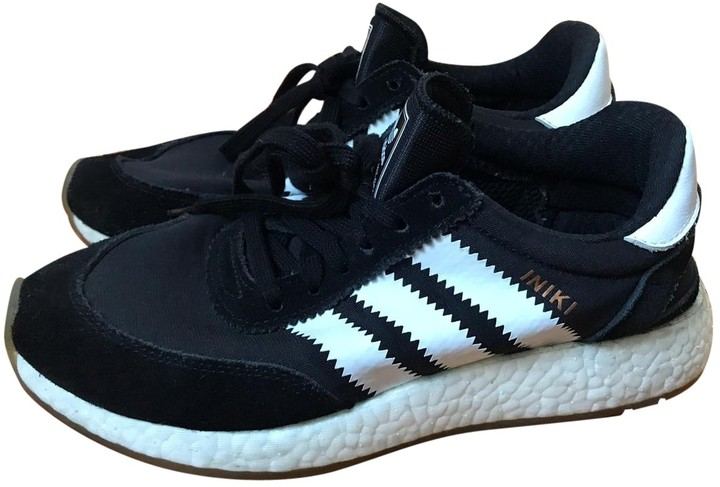 adidas black suede trainers