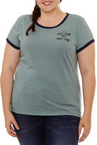 Arizona Mixed Feelings Graphic T-Shirt- Juniors Plus