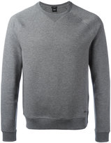 HUGO BOSS plain sweatshirt - men - Cotton/Polyamide - L