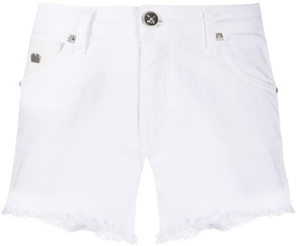 John Richmond Frayed Denim Shorts