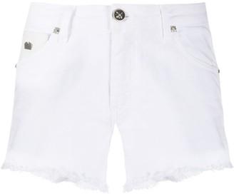 John Richmond frayed denim shorts