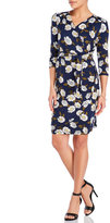 Yumi Navy Floral Wrap Dress