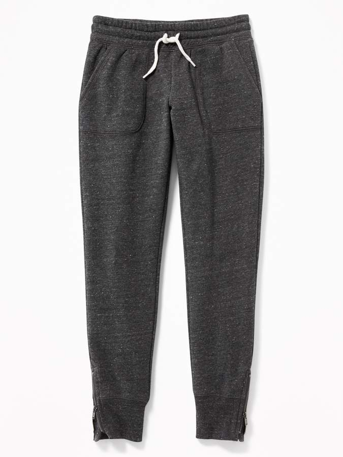 Old Navy French Terry Ankle-Zip Joggers for Girls