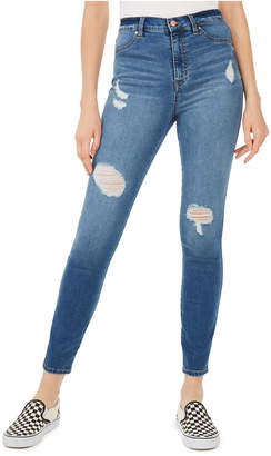 Celebrity Pink Juniors' High-Rise Distressed Skinny Jeans