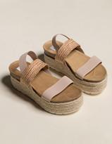 Steve Madden Circa Raffia Elastic Womens Flatform Sandals