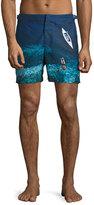 Orelebar Brown Bulldog Deep Sea Printed Swim Trunks, Blue
