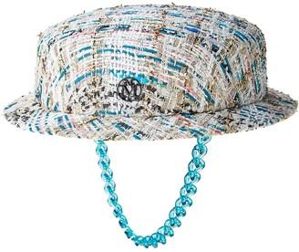 Maison Michel Melanie tweed boater hat