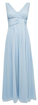 Dorothy Perkins Womens Showcase Blue 'Darcy' Drape Bridesmaid Maxi Dress, Blue