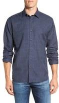 Maker & Company Men's Regular Fit Minicheck Sport Shirt