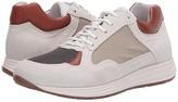 Eleventy Low-Top Mix Media Runner Sneaker (White/Camel/Grey) Men's Shoes