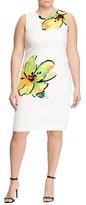 Lauren Ralph Lauren Plus Size Women's Floral Stretch Crepe Sheath Dress