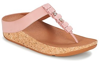 FitFlop RUFFLE TOE THONG SANDALS women's Flip flops / Sandals (Shoes) in Pink