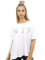 Wildfox Couture Wed. Thurs. Fri. Katie's Tee in Clean White