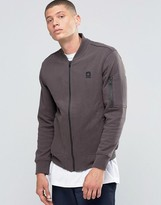 Converse Quilted MA-1 Bomber In Gray 10001149-A02