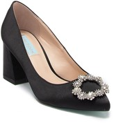 Betsey Johnson Lilly Ornament Embellished Block Heel Pump