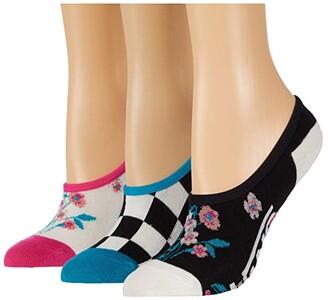 Vans Beauty Floral Canoodle 3-Pack (Multi) Women's Crew Cut Socks Shoes