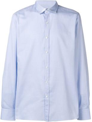 Lanvin micro check shirt