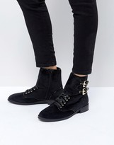 St Sana Velvet Worker Boot