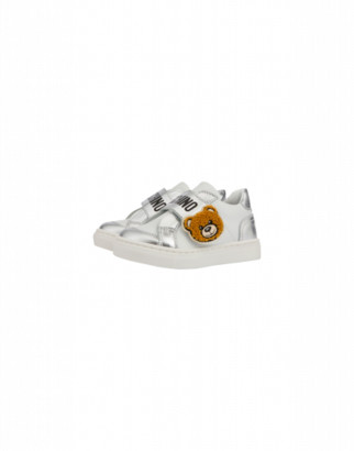 Moschino Calfskin Sandals With Strap And Teddy Bear Unisex White Size 23 It - (6.5k Us)