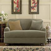 Sure Fit Stretch Piqu 2-pc. T-Cushion Chair Slipcover