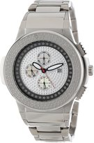 "JBW Men's JB-6101-E ""Saxon"" Steel Pave Diamond Watch"