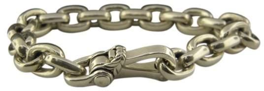 David Yurman 925 Sterling Silver Oval Chain Link Bracelet