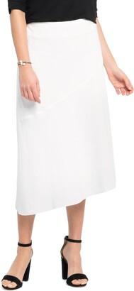 Nic+Zoe In Season A-Line Linen Blend Skirt