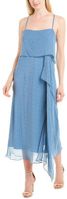 Mason by Michelle Mason Double Layer Silk Maxi Dress