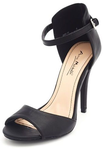 Charlotte Russe Ankle-Strap Single Sole Heel
