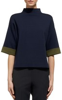 Whistles Funnel Neck Top