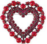 Lanvin embellished love heart brooch