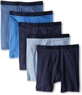 Hanes Men's 5 Pack Ultimate FreshIQ Boxer Brief - Colors May Vary, Black/Grey Assorted, Medium