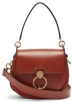 Chloé Tess Large Leather Cross-body Bag - Womens - Dark Brown