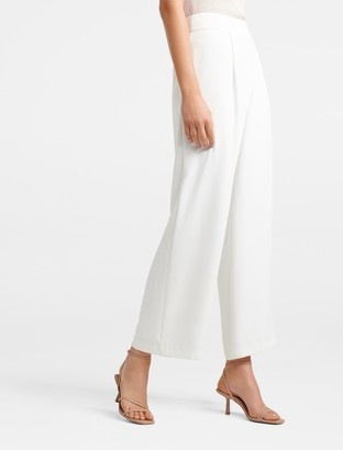 Forever New Veronica Wide Leg Pants - Porcelain - 4