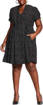 City Chic Laced Spot A-Line Dress