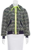 Milly Tweed Zip-Up Jacket