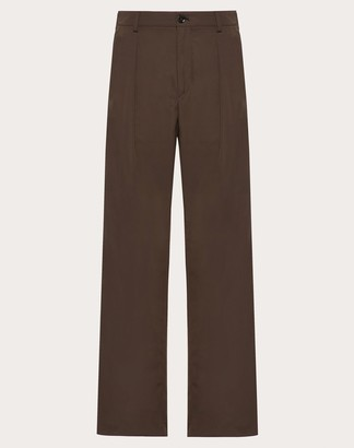 Valentino Relaxed Fit Pants Man Brown 52