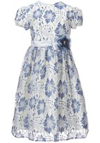 Jayne Copeland Little Girls 2T-6X Floral-Lace-Overlay A-Line Dress