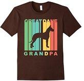 Men's Retro Style Great Dane Grandpa Dog Grandparent T-Shirt Small