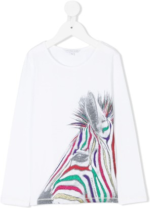 Little Marc Jacobs Lurex Zebra Top