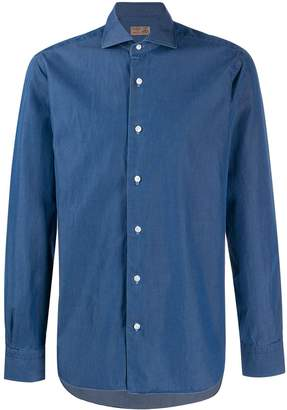 Barba long sleeved buttoned shirt