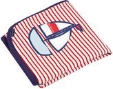 Kushies Red & Navy Stripe Tiny Sailor Blanket