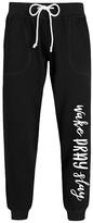 Instant Message Women's Women's Sweatpants BLACK - Black 'Wake Pray Slay' Joggers - Women & Plus
