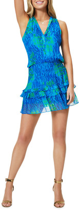 Ramy Brook Kimmy Printed Ruffle Mini Dress