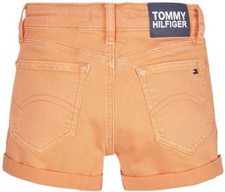 Tommy Hilfiger Girls Nora Denim Shorts - Orange