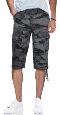 X-Ray Men's Belted Capri Cargo Shorts