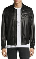 Rag & Bone Gallagher Leather Bomber Jacket, Black